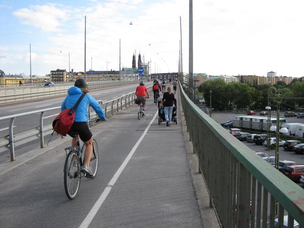 スウェーデン ストックホルム自転車ラッシュ