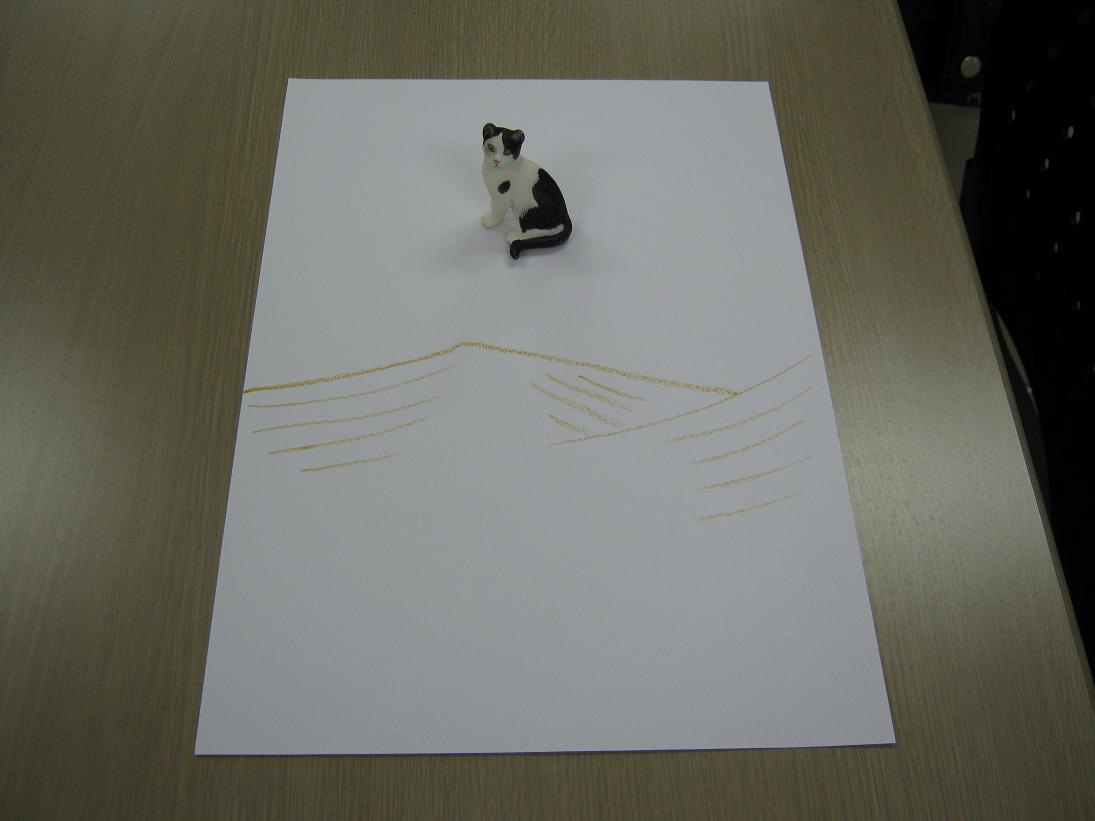 修了生が以前体験したグループカウンセリングで選んだグッズと描いたアート