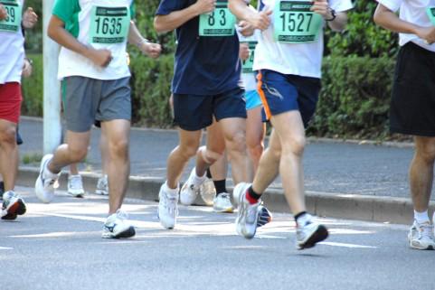 マラソンをしている写真
