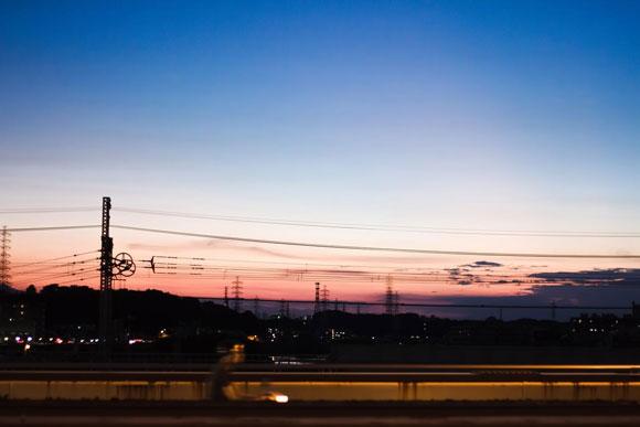 夕暮れの空の写真